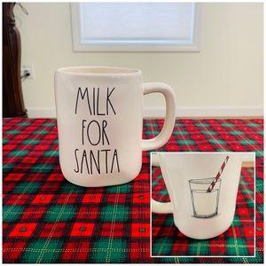 Rae Dunn MILK FOR SANTA double sided mug